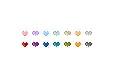 ぷっくりした質感の動くハートマーク(GIFアニメ)(透過GIF)(28パターン)