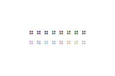 4つの四角がくるくる回るワンポイント(透過GIF)(GIFアニメ)(30パターン)