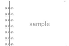 ルーズリーフのような飾り枠(透過GIF)(2パターン)