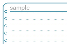 ルーズリーフのような飾り枠(透過GIF)(3パターン)