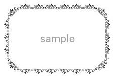 エレガントな雰囲気の飾り枠(2パターン)