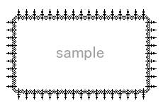 西洋装飾柵のような飾り枠(透過GIF)(4パターン)