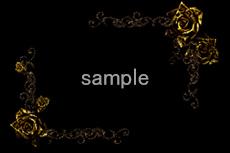 金属のような薔薇の飾り枠(4パターン)