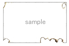 燃えた紙のような飾り枠(透過GIF)(2パターン)