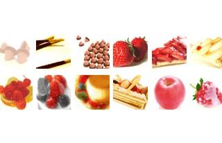 50*50ピクセルの食べ物の写真(12個)