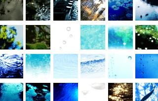 50*50ピクセルの水の写真(37個)