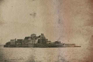 【高解像度】古写真風の軍艦島(3パターン)