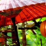 【高解像度】和傘と提灯のある初夏の風景(3パターン)