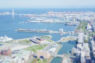 【高解像度】横浜赤レンガ倉庫付近のジオラマ風写真(3パターン)