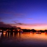 【高解像度】日田温泉の夕景