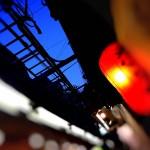 【高解像度】赤提灯と夕方の空