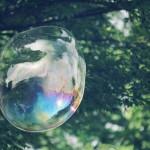 【高解像度】森の中を漂うシャボン玉(3パターン)