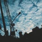 【高解像度】街と重機と空(3パターン)