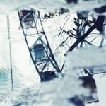 【高解像度】水溜りの中の観覧車(3パターン)