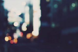 【高解像度】おぼろげな街の灯り(3パターン)