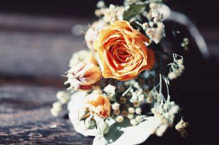 【高解像度】黄色い薔薇の花束(バラ)(3パターン)